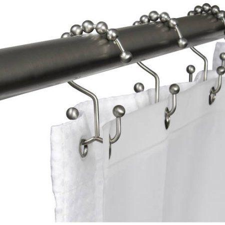 Maytex Mills Metal Double Glide Shower Hook Brushed Nickel