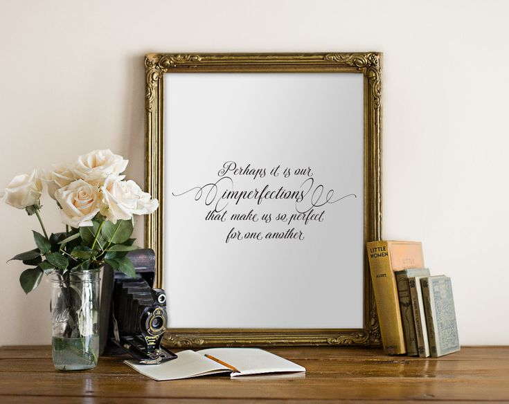 Printable Quotes, Emma Jane Austen Quote, Mr. Knightly 8x10 PDF wall art decor, digital poster, perhaps it is our imperfections, black white by HewittAvenue on Etsy