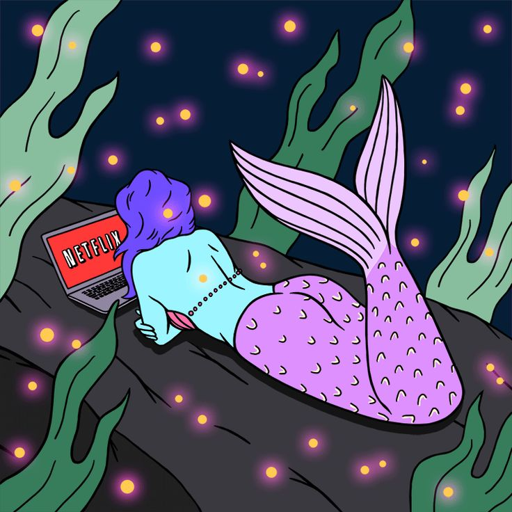 This is literally me. Mermaid watching Netflix