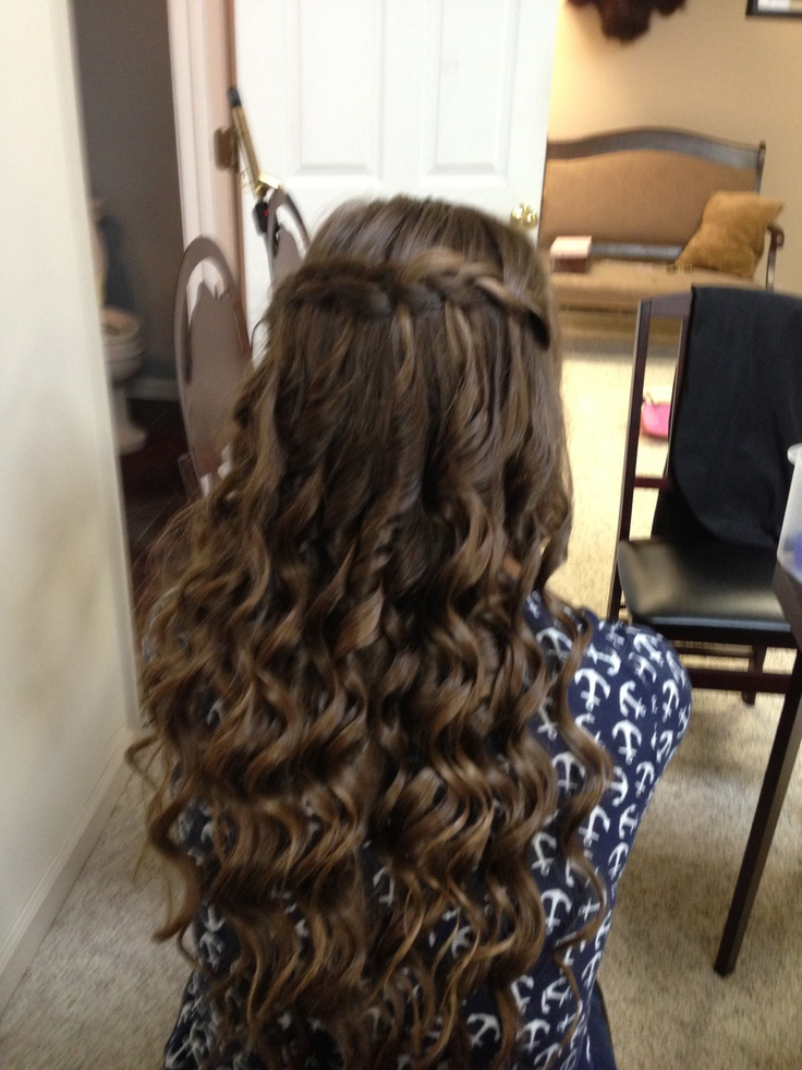 Water fall braid and curls.