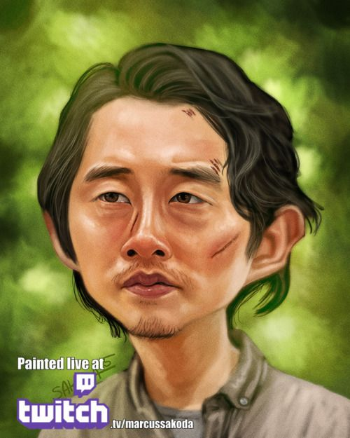 A compliation of Caricatures of the cast of The Walking Dead Season 6. These were all painted live on Twitch.tv/MarcusSakoda with the exception of Daryl.