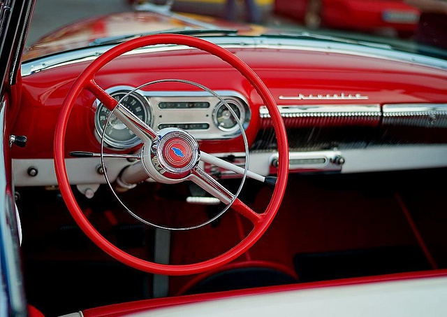 Red steering wheel