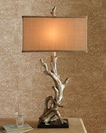 Driftwood lamp - the shade makes the lamp.                                                                                                                                                                                  More