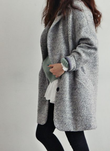 Love these oversized coats.