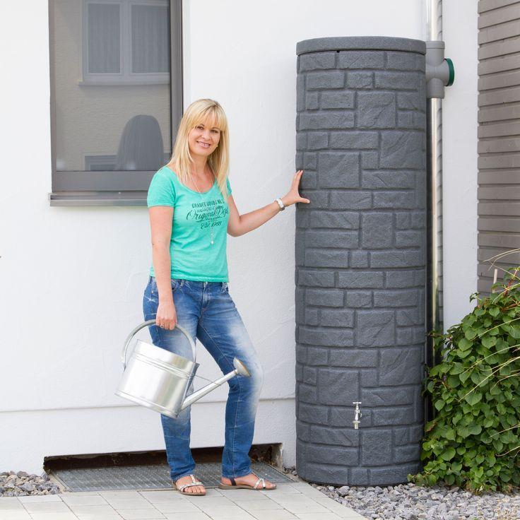 Regentonne anthrazit Modell Arcado 460 L black granit