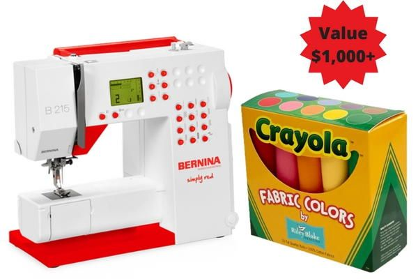 BERNINA 215 Simply Red Sewing Machine | AllFreeSewing.com