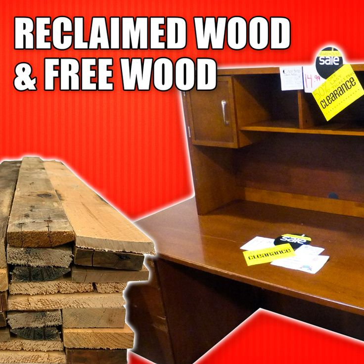 Finding Reclaimed Wood & Free Wood - Money Saving Tips for Woodworking. #woodworking #diy