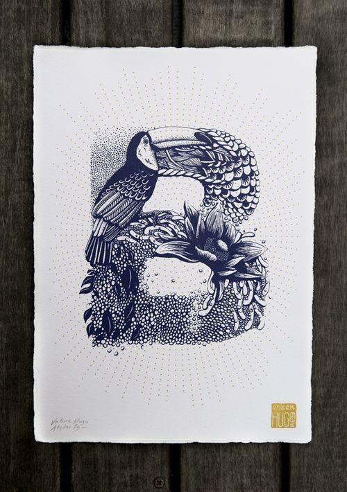 Valérie Hugo a grandi dans le quartier des Halles à Paris. À 7 ans, elle veut devenir « dessinatrice » et entre dans une école d'Art dix ans plus tard. Diplômée à 22 ans, plusieurs agences de design lui proposent de se mettre en free-lance. Elle réalise sa première fresque de 23 mètres à Montreuil. Valérie signe des lettres sérigraphiées inspirées de la nature. Chaque lettre fourmille de détails, faune et flore se mêlent avec beaucoup de poésie et de délicatesse. De A à Z, ces 26…