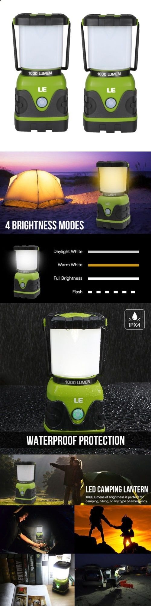 Lanterns 168867: 2Pcs Portable Led Camping Lantern For Home Garden Outdoor Hiking Emergency -> BUY IT NOW ONLY: $39.98 on eBay! #CampingLantern