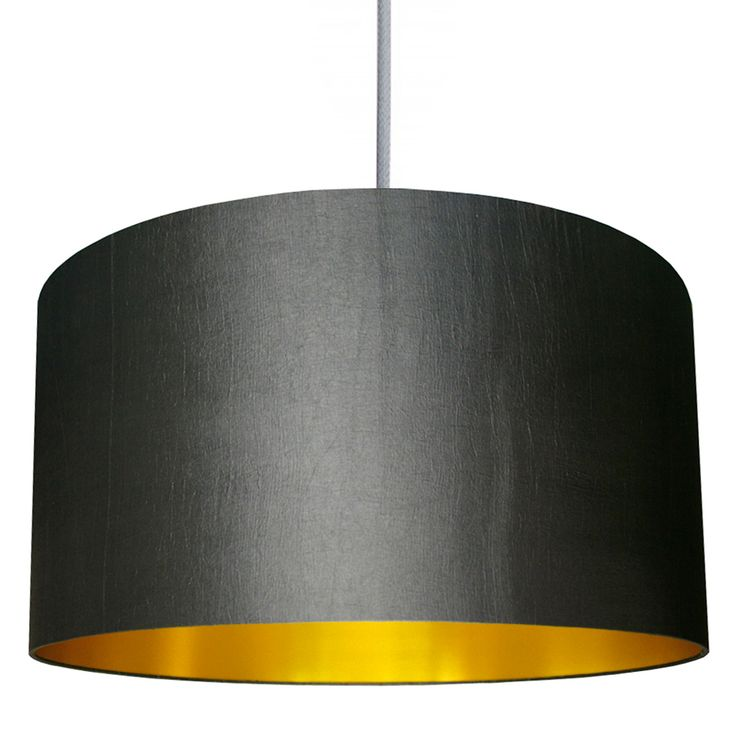 Handmade Gold Lined Lampshade In Gunmetal #lovefrankie