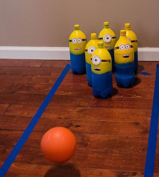 Minion Birthday Party Game Ideas Minion Game Bowling