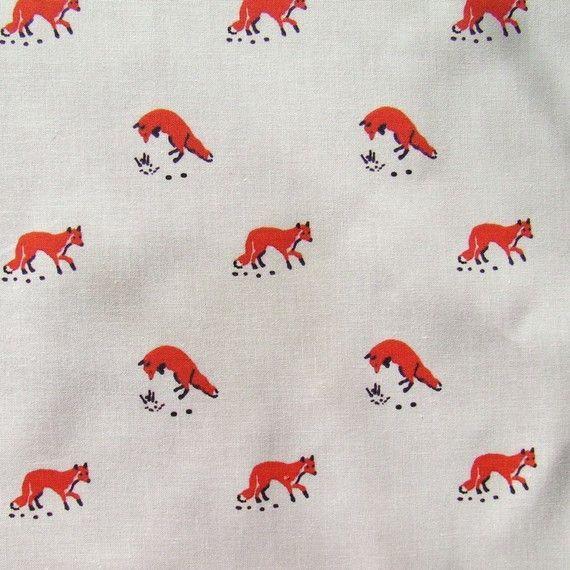 fox in the snow fabricNurseries Decor, Foxes Prints Fabrics, Fat Quarters, Nursery Decor, Foxes Pattern, Fabrics Rose, Baby Room, Foxy Nurseries, Foxes Fabrics
