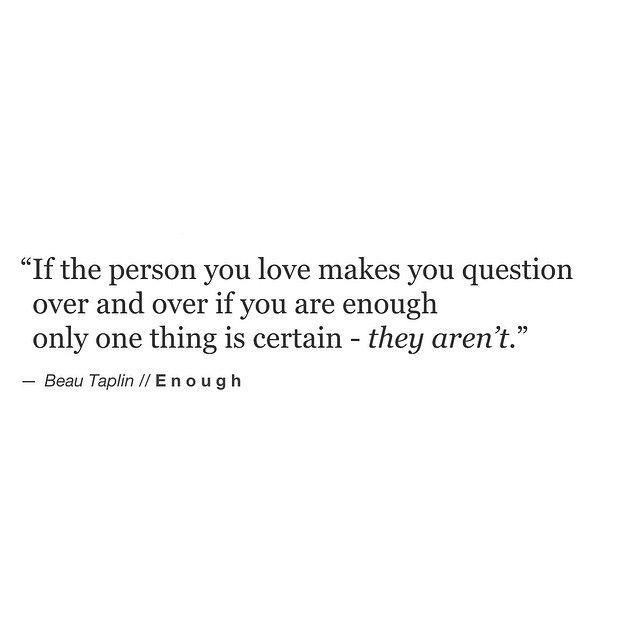 Beau Taplin | Enough