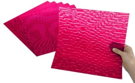 """Hot Pink Serpentine - Made in the USA, translucent, easily cut with scissors, perfect for scoring, folding, embossing and die cutting! Stunningly brilliant optical effects! Add instant pizzazz to craft projects, seasonal accents, party decorations, scrapbooks, greeting cards, jewelry, furniture, frames, gifts, favors, accessories, art and DIY home decor projects. To instantly add """"POP"""" and """"WOW"""" to your projects, just add Rowlux!"""