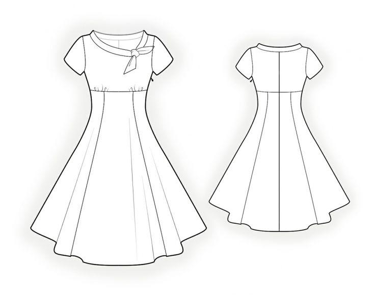 Flared Dress - Sewing Pattern #4368