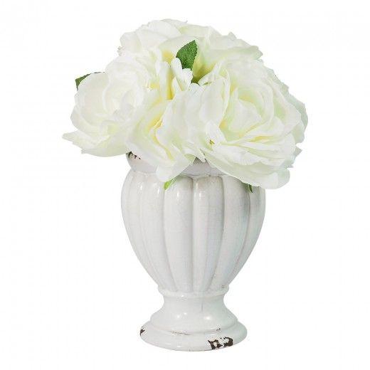 De Fleurs Tulip Vase Arrangement L24.5XW24.5XH30cm