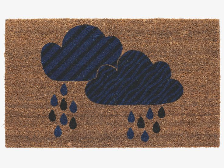 CLOUDY BROWNS Coir Patterned Door Mat   HabitatUK