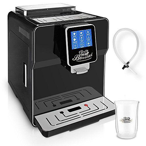 ONE TOUH Kaffeevollautomat✔ Café Bonitas✔ New-Star Black✔ Touchscreen✔ Dualboiler✔ 19 Bar✔ Milchschaum✔ Vorbrühsystem✔ Latte Macchiato✔ Kaffee✔ Espresso✔ Kaffeeautomat Kaffeemaschine Vollautomat