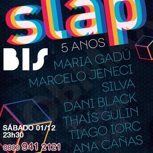 A 5ª edição do Festival Slap reúne novos cantores da música brasileira em show que acontece no Circo Voador, no Rio de Janeiro. E para você que não poderá ir ao evento, o BIS faz transmissão, ao vivo. Dia 01/12, às 23h30, no BIS.     http://www.clarotvparceiro.com.br/