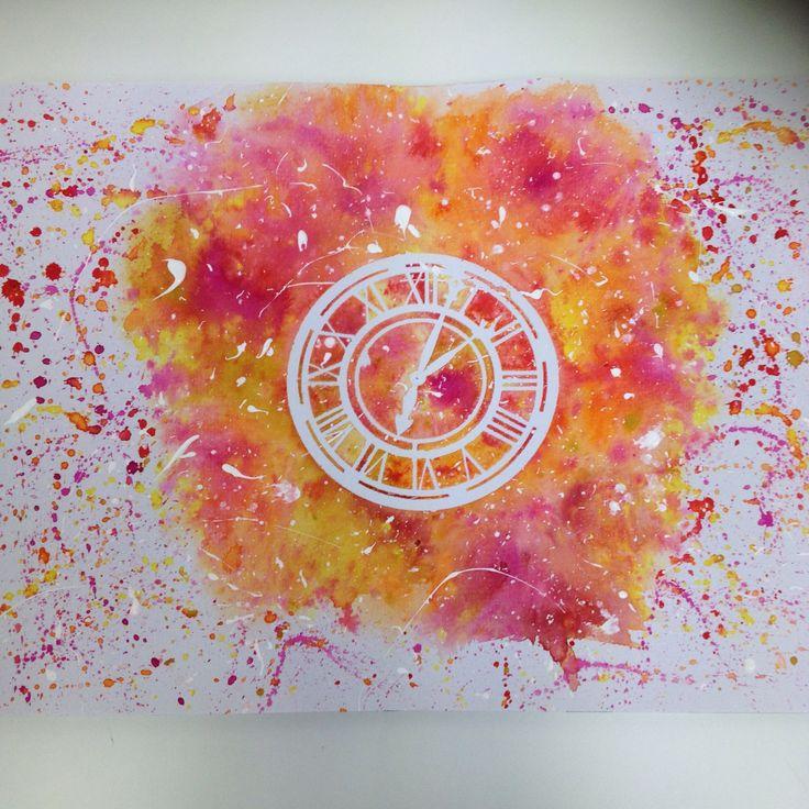 Toc - Watercolour Stencil Design Print