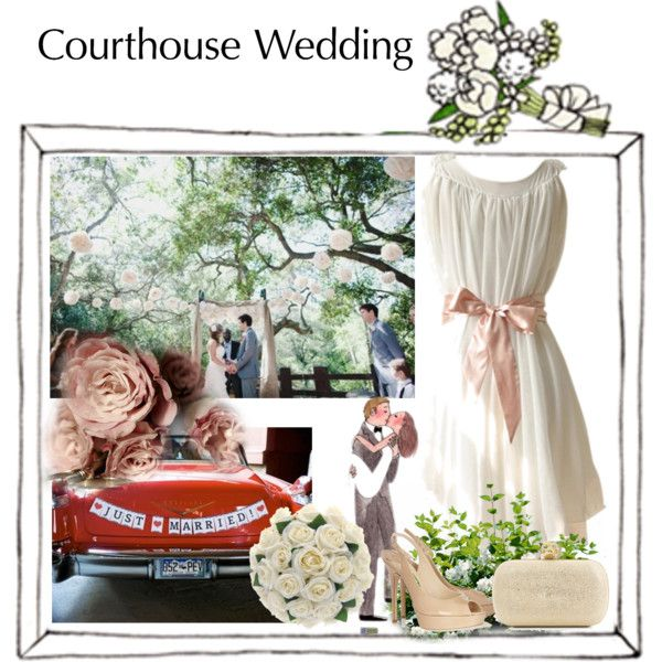 """""""Courthouse Wedding"""" by rekamel on Polyvore"""