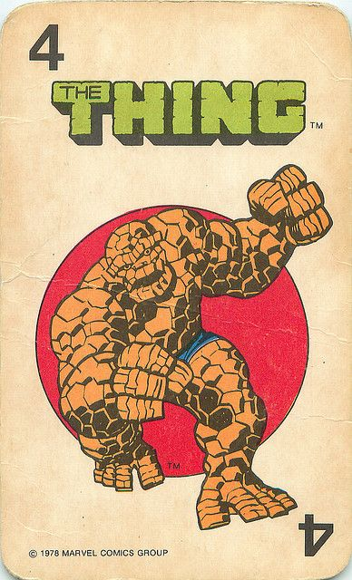 Marvel Comics Superheroes Card Game   The Thing