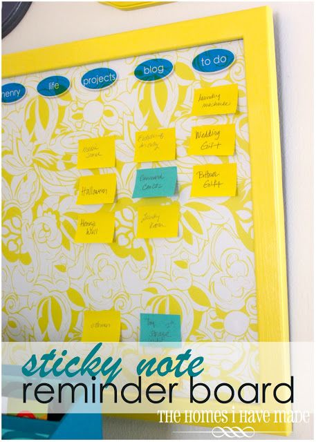Last week, I showed you our family command center; and on Monday, I shared with you some of the printables we use as a family to keep track of our weekly events and outings. Today, I am going to show you how to assemble this easy-to-make and easy-to-use sticky note reminder board! I didn't come …