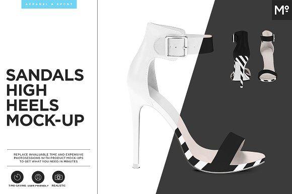 Sandals High Heels Mock-up by Mocca2Go/mesmeriseme on @creativemarket