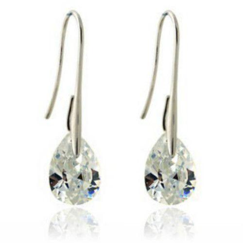 Black Zircon Charms Earrings boucle d'oreille extra long silver plated Earrings Women pendientes largos