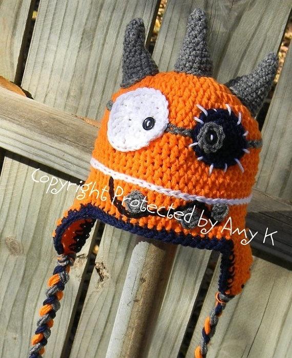 Baby Boy Monster Hat Crochet Baby Hats Monster Baby by azek2000