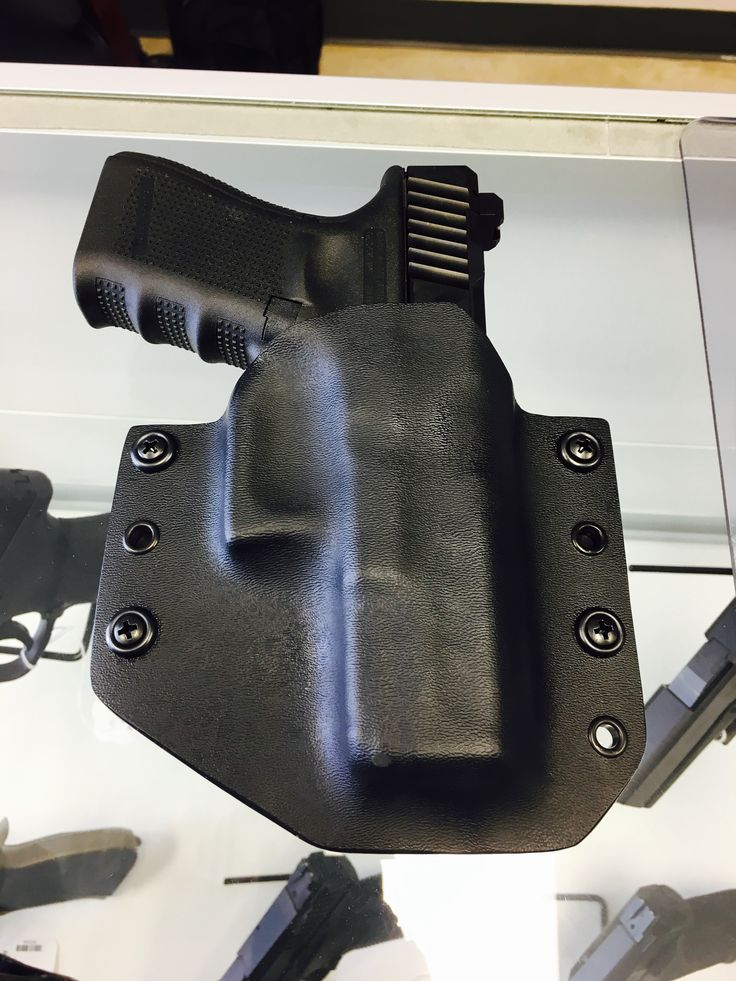 Sig P320 tactical black OWB holster by Peacemaker Tactical