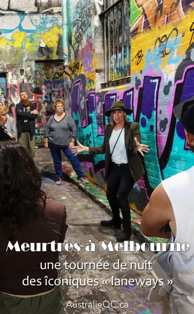 Meurtres à Melbourne : une tournée de nuit des « laneways »