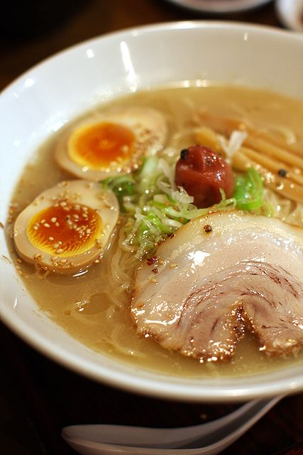 We love to eat a bowl of good ramen.