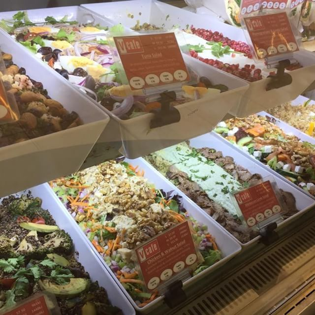 Just some of the amazing salads on our menu at vcafe Pitt Street, Sydney - Norwest and Frenchs Forest. #2delicious4words #sydney #vcafe