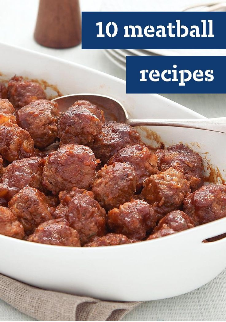 10 Meatball Recipes – We've got a recipe for every one of your old faves: Italian meatballs, cheesy meatballs, or Swedish meatballs. These melt-in-your-mouth tender meatballs can show up nestled in pasta with sauce, in a sub sandwich, in a layered bake or on a buffet table with other appetizers.