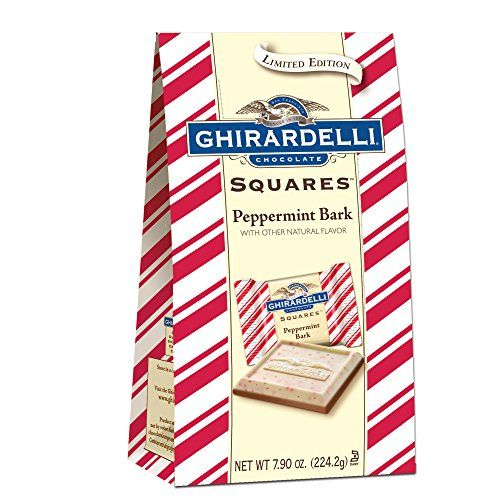 Ghirardelli Limited Edition Peppermint Bark Squares Bag, ...