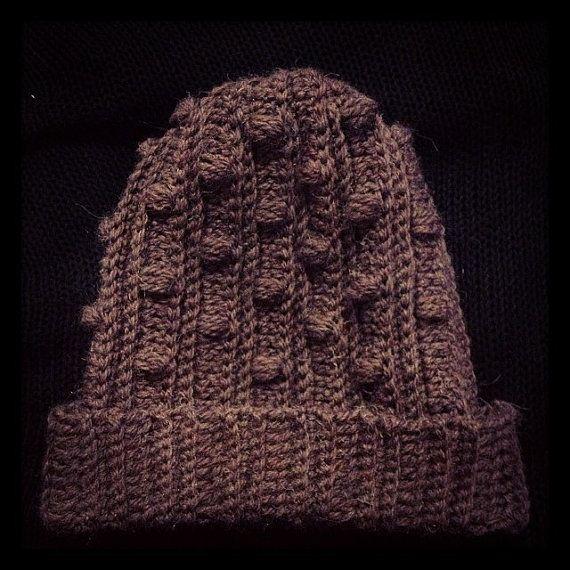 Crochet bobble beanie