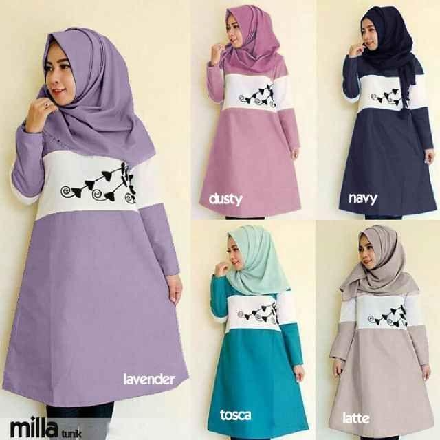 Baju Muslim Atasan Milla Tunik Trendy - http://bajumuslimbaru.com/baju-muslim-atasan-milla-tunik #AtasanTunik, #BajuMuslimAtasan, #TunikMuslim, #TunikRemaja