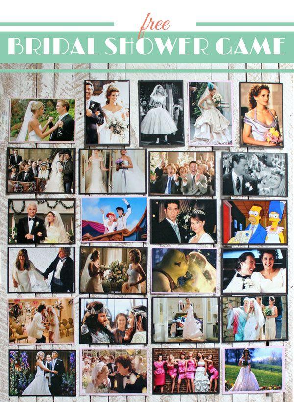 Wedding Movie Matchup- Free Bridal Shower Game