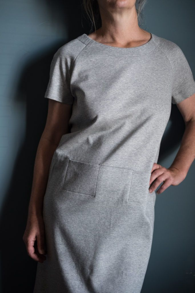 Love this pattern hack of The Top 64 by Merchant & Mills, they've shortened the sleeves and lengthen the top to dress length, definitely need to make one of these! Pattern available from our online store...  www.drapersdaughter.com  #sewing #dressmaking #merchantandmills