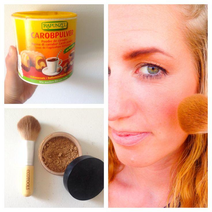 Make your own Natural Bronzer using carob powder!