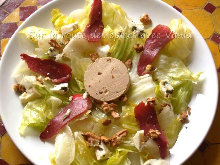 Salade foie gras, magret de canard