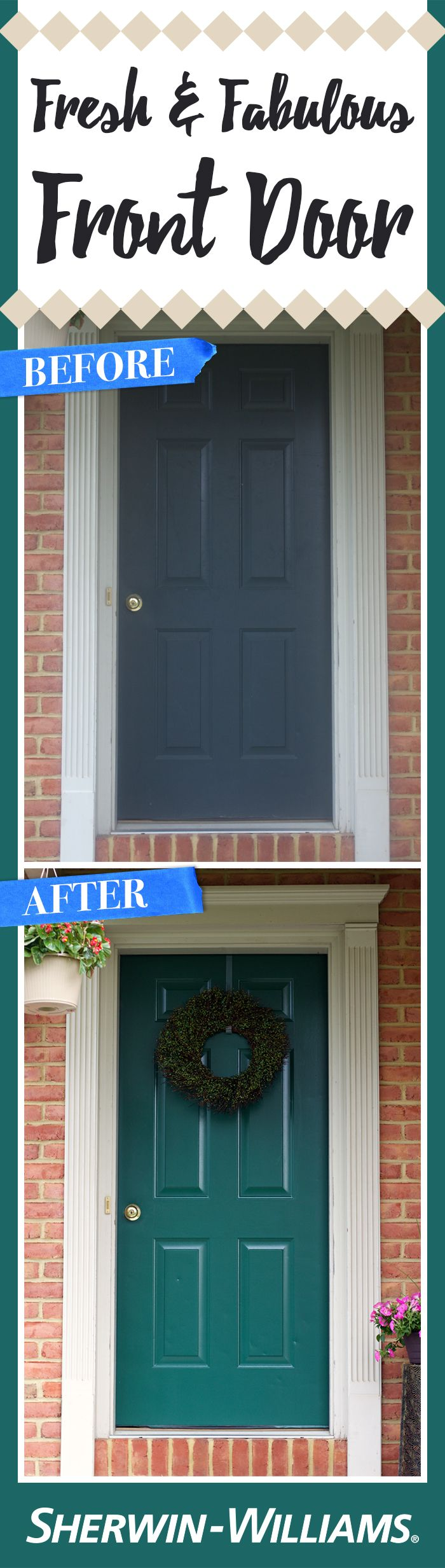 This Old Door Got A Fresh And Inviting New Coat Of Paint With Hunt Club SW  6468 Emerald® Exterior Acrylic Latex Paint. We Think It Looks Stellar!