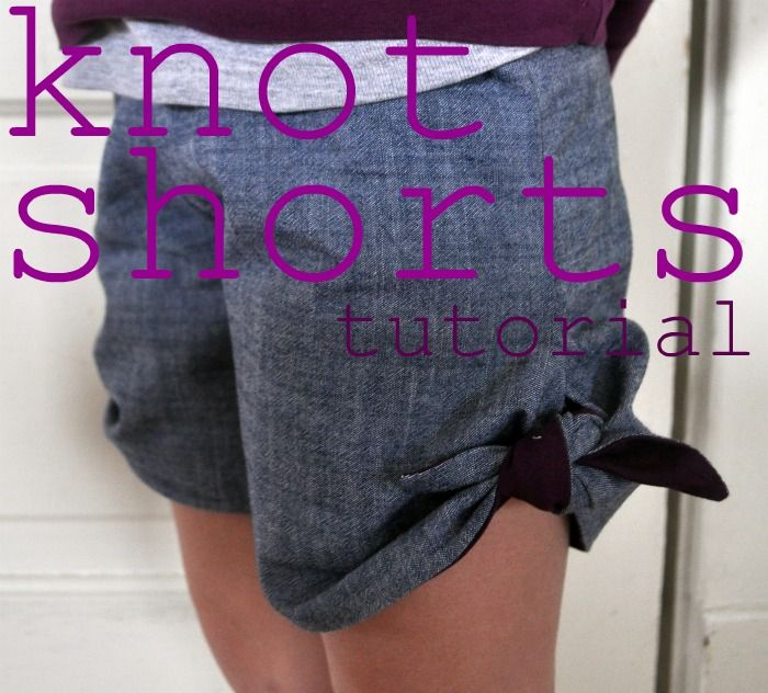 knot shorts - @Whitney Lawson, I am so making a pair of these for me in maternity version