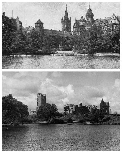 Königsberger Schloss: 1943 vs. 1966. Feel the sad difference...