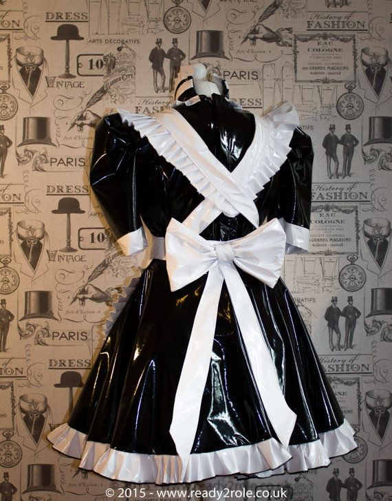 The Hi Alice Even More PVC Maid Dress with Full by ready2role