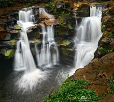 Hoopii Falls, Kapaa, Kauai, Hawaii — by Matt Anderson Photography. For a fine art print visit www.mattandersonphotography.com Upper Ho'opi'i Falls is a small waterfall along Kapa'a...