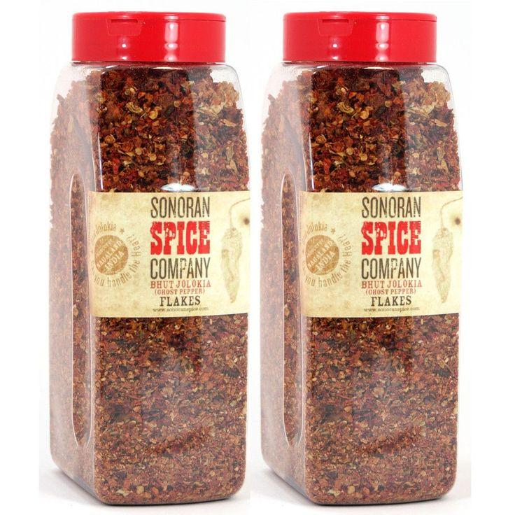 Ghost Pepper Flakes - Bhut Jolokia - 1 lb