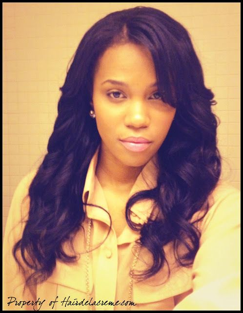 hairstyles with one short side : wave middle part upart wig side part sew in weave