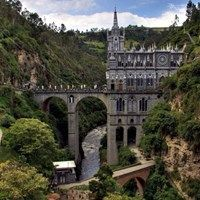Las Lajas Castle in Pasto, Colombia